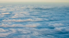 Panoramic view of heavy clouds over Pico island in the Azores, RAW video - stock footage