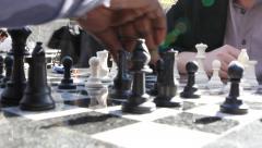 NY chess players close Stock Footage