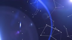 Space technology abstract motion blue background Stock Footage