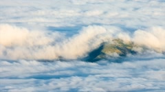 Stock Video Footage of Amazing clouds view from the top of Pico volcano, Magic Lantern RAW video