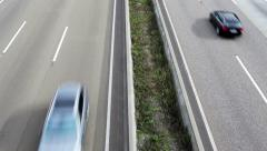 Traffic on German highway Stock Footage