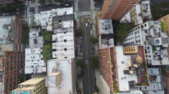 Stock Video Footage of NYC Midtown Aerial Street View