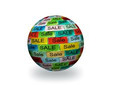 Stock Illustration of sale  tagcloud 3d sphere