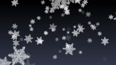 4K Seamless Looping Snow Flakes Particles Dark Gradient Abstract Background Stock Footage