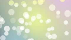 4K Seamless Looping White Large Particles Light Pink Blue Yellow Abstract Stock Footage