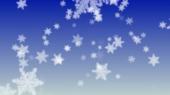 4K Seamless Looping Snow Flakes Particles on Blue Gradient Abstract Background - stock footage