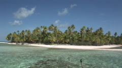 French Polynesia Tahiti Motu Teta Island Stock Footage