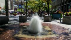 16th street mall timelapse Stock Footage