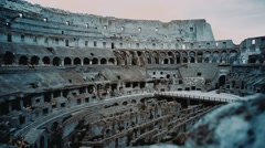 Historical site Colosseum inside  Stock Footage