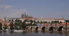 UltraHD 4K Spectacular Postcard Skyline Prague Landmarks Establishing Shot Great - stock footage