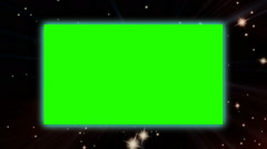 Green screen on starflight bsckground Stock Footage