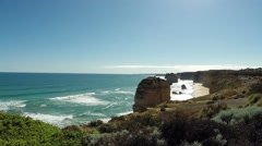 Twelve Apostles Slider - stock footage