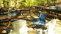 Prepper camp survivalist area 1 Stock Footage