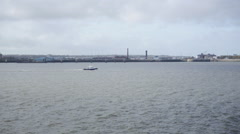 Liverpool Dock looking towards Wirral - stock footage