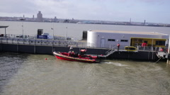 Rescue Boat in Liverpool - stock footage