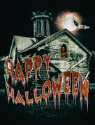 Haunted Halloween House Stock Illustration