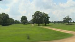 Mississippi Countryside driving by - stock footage
