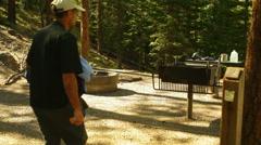 Survivalist camp prepper Stock Footage