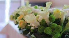 Beautiful weddings bouquets Stock Footage