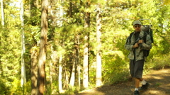 bugout bug out bag prepper survivor - stock footage