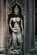 Angkor statue Stock Photos