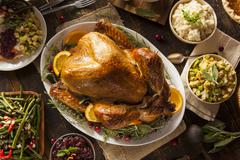Stock Photo of whole homemade thanksgiving turkey