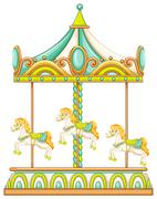 Merry go round - stock illustration