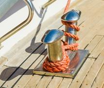 bollard on yacht - stock photo