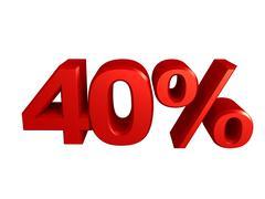 40 percent icon - stock illustration