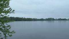 Calm lake (still glossy water) Stock Footage