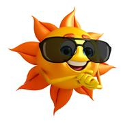 Sun character with sun glasses Piirros