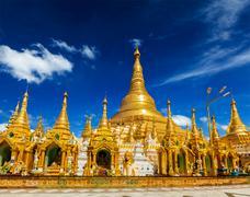 Shwedagon pagoda Stock Illustration