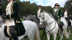 4k Classic cavalry big quadrille demonstration Stock Footage