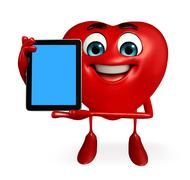Heart shape character with tab Stock Illustration