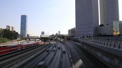 Tel aviv road traffic Stock Footage