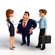 Stock Illustration of group business people in office.