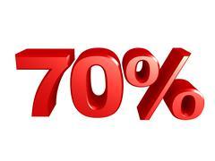 70 percent icon - stock illustration