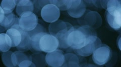 Stock Video Footage of Fast blue circles bokeh lights (Ultra HD, UHD, 4K)
