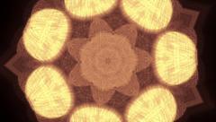Beautiful kaleidoscopic pattern in autumn colors. Stock Footage