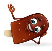candy character with best sign - stock illustration