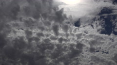 4K Puffy Storm Cloud Waves Time Lapse Stock Footage