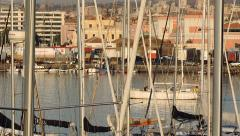 Port of Catania at Day time. - stock footage