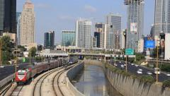 tel aviv road traffic - stock footage