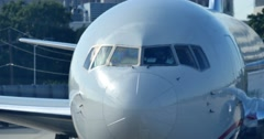 4K Jet Pulls Away from Terminal Stock Footage