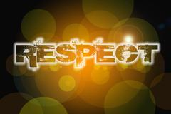 respect concept - stock illustration