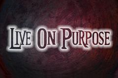 Stock Illustration of live on purpose concept