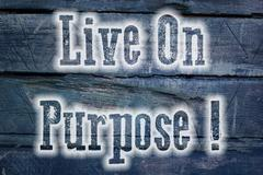 Live on purpose concept Stock Illustration