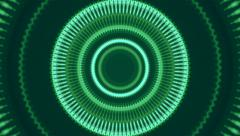 Beautiful green kaleidoscopic pattern. Stock Footage
