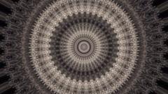 Beautiful circle kaleidoscopic pattern. - stock footage