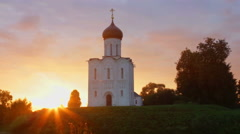Church of the Intercession on the River Nerl. Stock Footage